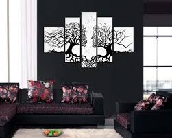 sangu hand painted hot saling framed 5 piece couple trees oil paintings canvas wall on 5 piece canvas wall art trees with sangu hand painted hot saling framed 5 piece couple trees oil