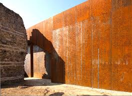 Cor ten steel Steel Panels Szatmary Palace By Marp Corten Steel Company Corten Steel Corten Corten Steel India Hungarys Szathmáry Palace Ruins Renovated With Lshaped Corten