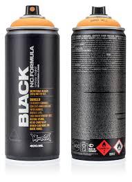 Montana Black Spray Paint 400ml Montana Cans Highest