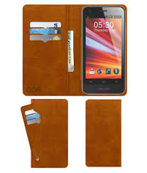Celkon A69 Flip Cover by ACM - Golden ...