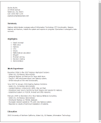 Hadoop Administrator Resume Template Best Design Tips