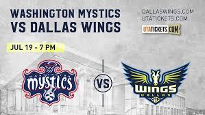 Washington Mystics Vs Dallas Wings We Rise Together