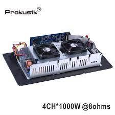 4 Channel 1000W@ 8ohm subwoofer Amplifier module plate DSP Class D amp  module powered subwoofer Prokustk AM3004 Stage Audio