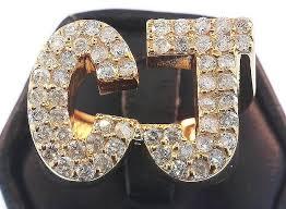 king johnny johnny s custom jewelry custom made 10k gold initials ring with