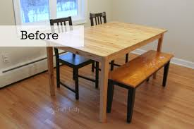 diy concrete dining table top and dining set makeover child s wooden table chairs
