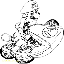 Coloring Pages Mario Mario Kart 8 Coloring Pages