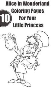 Small Picture Alice In Wonderland Tea Party Coloring Pages Coloring Coloring Pages