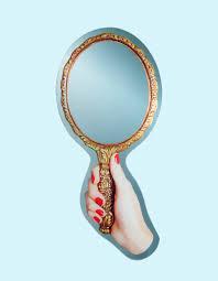 mirror vanity gold