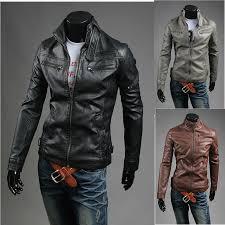 men s leather jacket double special wallet pocket