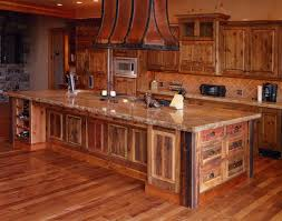 knotty alder cabinets and island