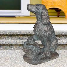 dog garden statue. Spaniel Left Facing - Dog Garden Statue 25\