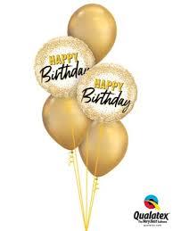 Gold Glam Birthday Balloon Bouquet