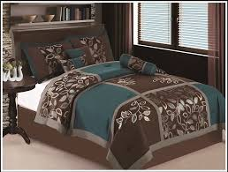 awesome 7 pc full size esca bedding teal blue brown comforter set inside black and ideas 14