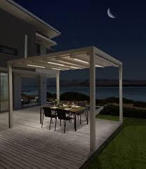 Das Terrassendach Pergola Sunrain Q des Herstellers LEINER erfllt alle  Anforderungen in Sachen Design und Wetterschutz