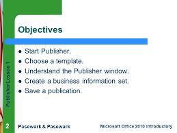 Ms Publisher Lesson Plans Publisher Lesson 1 Microsoft Publisher Basics Ppt Download