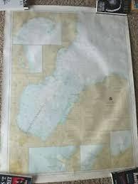 Details About 1982 Saginaw Bay Michigan Nautical Chart Map Sebewaing Tawas Ausable River