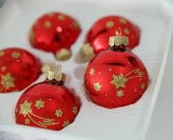 Inge Glas 5x Weihnachtskugeln Christbaumschmuck Glas Rot