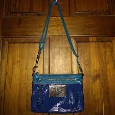 Coach Poppy Leather Swingpack Crossbody Bag 42872