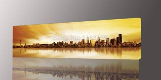 long wall art long yellow city painting canvas wall art picture print for living room photo 1 panel gift decoration on large horizontal canvas wall art with wall art designs long wall art long yellow city painting canvas