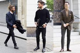 The following are 40 men's suede shoes ideas on how you can match them with different outfits and brown suede boots comes out beautifully when worn with grey trousers and completed with cream. 11 Best Chelsea Boots For Men How To Wear Them Man Of Many
