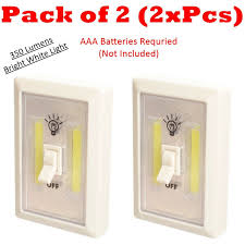 Extra Bright Night Light 2x Led Switch Night Lights Battery Operated Cordless
