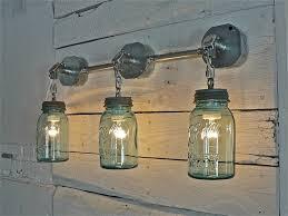 primitive lighting fixtures. Old Blue Mason Jars...repurposed Into Primitive Vanity Lighting. Lighting Fixtures E