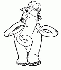 Small Picture happy feet coloring pages Manfred mammoth coloring page