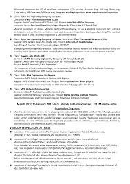 Qc Welding Inspector Resume Format 40 Recent Cv Of Qaqc Inspection New Mechanical Inspector Resume
