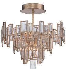metropolitan lighting n6672 274 bel mondo 5 light luxor gold semi flush undefined