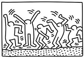 Coloring Figures Dancing Figures By Haring Coloring Page Nativity