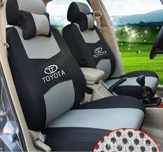 embroidery logo car seat cover front rear 5 for toyota land