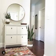 decorating with ikea furniture. ikea hemnes shoe cabinet round mirror good for dark living room decorating with furniture b