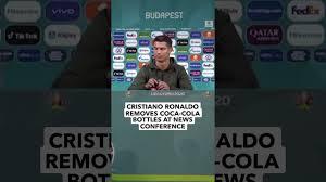 CRISTIANO RONALDO REMOVES COCA - COLA BOTTLES AT NEWS CONFERENCE - YouTube