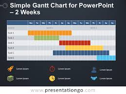 Free Simple Gantt Chart 2 Weeks Simple Gantt Chart For Powerpoint Presentationgo Com