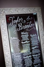 Calligraphy Wedding Seating Chart Mirror Seating Chart Dc Calligraphy Just Write Studios