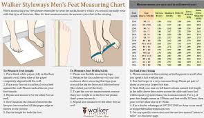Feet Measurement Guide Walker Styleways