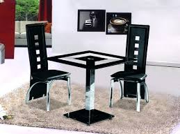 small dining table 2 chairs small square black glass dining table with 2 chairs set black