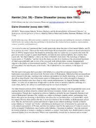 hamlet vol elaine showalter essay hamlet ethnicity race hamlet vol 59 elaine showalter essay hamlet ethnicity race gender