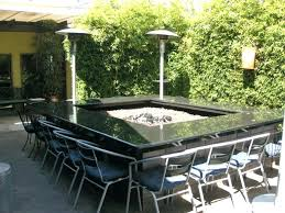 outdoor dining table with fire pit amazing large fire pit table patio ideas outdoor dining table