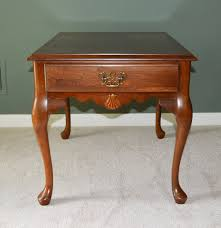 Queen Anne Style Cherry Side Table by Peters Revington Furniture