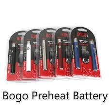 Bogo Lo Preheat Battery Starter Kit Co2 Oil Vape Tank Vaporizer Pen Variable Voltage 510 Thread Vv 400mah Electronic Cigarettes Batteries Cheap E