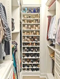 Shoe Organization in a Closet   Organized Living Classica in Bisque  traditional-closet