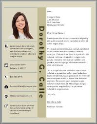 Professional Cover Letter Template Microsoft Word In Two Columns
