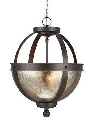 sea gull lighting 7710402en3 715 sfera 2 led light semi flush mount convertible pendant in autumn bronze