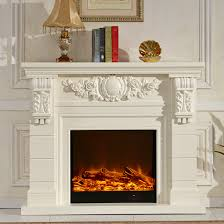 wooden fireplace mantel w140cm with electric fireplace insert living room heater decor led artificial flame decoration in fireplaces from home improvement