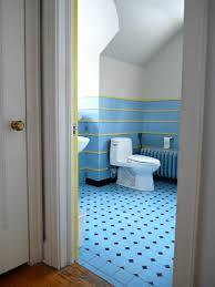 Blue Tiled Bathrooms Grey Tile And Blue Bathroom