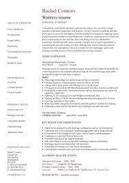 Waitress Resume Skills By Rachel Connors ...