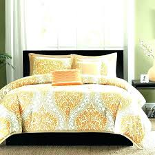 orange and grey bedding