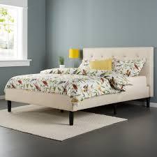 Platform Bedroom Furniture Amazoncom Zinus Upholstered Button Tufted Platform Bed With