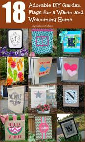 garden flags. 18 Adorable DIY Garden Flags For A Warm And Welcoming Home Wow, Impressive Ideas Y